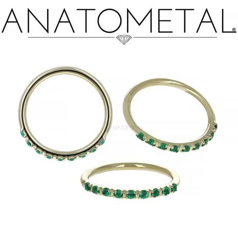 Side-Set Gemmed Seam Rings with  CZ Stones