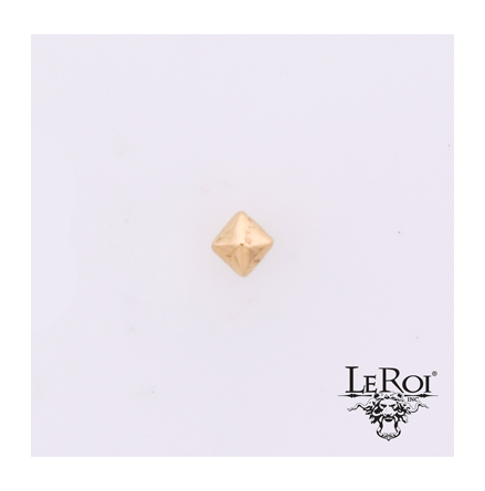 14k gold Diamond Bevel, push pin