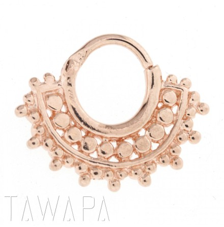 Afghan Septum Ring Rose Gold plated 1.6x9.5mm