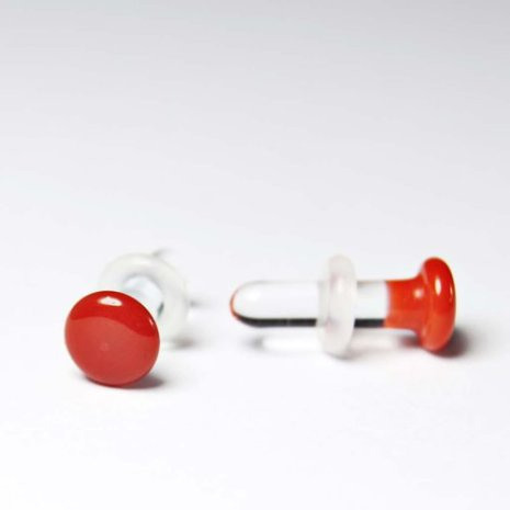 00g (9mm) Color Front, Single Flare, Orange