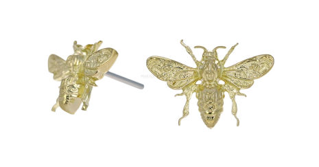 18k Gold bee for push pin