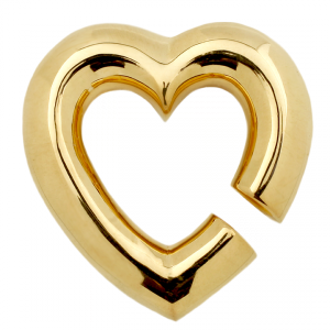 Weight of my Heart in yellow gold plated