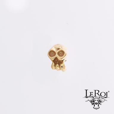 SkullDuggery, 14k gold, threadless.