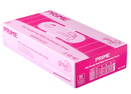 Glove Plus, Prime nitrile gloves, pink 100pcs - XS